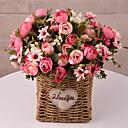 halpa Tekokukat-Keinotekoinen Flowers 5 haara Klassinen Traditionaalinen / klassinen minimalistisesta Camellia Pöytäkukka