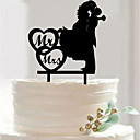 billige Bryllupsstrømpebånd-Kagedekorationer Bryllup Romantik Andet materiale Bryllup med Sweetheart(343) / Solid 1 pcs OPP