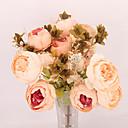 halpa Tekokukat-Keinotekoinen Flowers 1 haara Klassinen Single Moderni nykyaikainen Hääkukat Pioonit Pöytäkukka