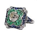 povoljno Moderni broševi-Žene Zaručnički prsten prsten za palac 1pc Svijetlo zelena Legura Elizabeth Locke Rođendan Dar Jewelry Obrtnik Lijep