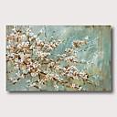 abordables Cuadros Abstractos-Pintura al óleo pintada a colgar Pintada a mano - Abstracto Floral / Botánico Contemporáneo Modern Incluir marco interior