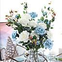 halpa Tekokukat-Keinotekoinen Flowers 1 haara Klassinen Juhla Häät Ruusut Eternal Flowers Pöytäkukka