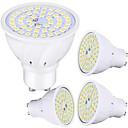 ieftine Spoturi LED-4 buc 5 W Spoturi LED 450 lm GU10 48 LED-uri de margele SMD 2835 Decorativ Încântător Alb Cald Alb Rece 220-240 V