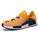 זול נעלי ספורט לגברים-בגדי ריקוד גברים אור סוליות PU / בד גמיש אביב קיץ ספורטיבי נעלי אתלטיקה נושם צהוב / אדום / כחול