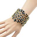 abordables Sandales pour Femme-Manchettes Bracelets Femme Mode Bracelet Bijoux Noir Beige pour Quotidien Rendez-vous