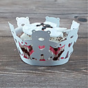 preiswerte Gastgeschenk Boxen & Verpackungen-Rund Perlenpapier Geschenke Halter mit Wellenmuster Kuchenverpackung und Boxen - 50
