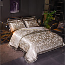 cheap Contemporary Duvet Covers-Duvet Cover Sets Luxury Polyster Jacquard 4 PieceBedding Sets
