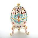 halpa Zentai-Pääsiäismuna Antiikki Jeweled Venäjä Korut laatikko Trinket Box Käyttötarkoitus Lahja Deitti Rento / arki Pääsiäinen Naisten Pukukorut