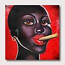 levne Abstraktní malby-Hang-malované olejomalba Ručně malované - Abstraktní Lidé Současný styl Moderní Obsahovat vnitřní rám