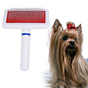 hesapli Köpek Tımar Malzemeleri-Köpekler Evcil Hayvanlar Fırçalar Bakım Araçları Temizleme Taraklar Masaj Yıkanabilir Beyaz