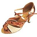 povoljno Cipele za latino plesove-Žene Plesne cipele PU Cipele za latino plesove Svjetlucave šljokice Štikle Deblja visoka potpetica Moguće personalizirati Srebro / Bronza