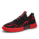 cheap Men's Sneakers-Men's Comfort Shoes Tissage Volant Spring & Summer Casual / Preppy Sneakers Breathable Black / White / Black / Red / Black / Yellow