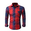 رخيصةأون سترات و بدلات الرجال-رجالي قميص شيك أزرق XL