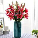 halpa Tekokukat-Keinotekoinen Flowers 1 haara Klassinen Juhla Häät Liljat Eternal Flowers Pöytäkukka