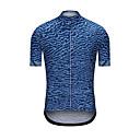 baratos Camisas Para Ciclismo-Homens Manga Curta Camisa para Ciclismo Azul camuflagem Moto Camisa / Roupas Para Esporte Blusas Esportes Terylene Roupa / Elasticidade Alta