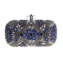 cheap Clutches & Evening Bags-Women's Bags Acrylic / Alloy Evening Bag Buttons / Crystals Silver / Rhinestone Crystal Evening Bags / Rhinestone Crystal Evening Bags / Fall & Winter