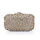 cheap Clutches & Evening Bags-Women's Bags Alloy Evening Bag Crystals / Hollow-out Floral / Botanical Red black / Sky Blue / Royal Blue