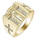 povoljno Muško prstenje-Muškarci Žene Prsten 1pc Zlato Srebro Legura Dar Dnevno Jewelry