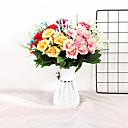 halpa Tekokukat-Keinotekoinen Flowers 1 haara Single minimalistisesta Moderni Herkulliset kasvit Pöytäkukka