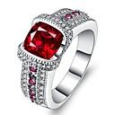 levne Fashion Ring-Dámské Kubický zirkon Prsten Fashion Ring Šperky Červená Pro Dar Denní
