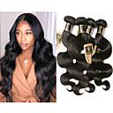 halpa Aitohiusperuukit-6 pakettia Brasilialainen Runsaat laineet 100% Remy Hair Weave -paketit Hiukset kutoo Bundle Hair Yksi pakkaus ratkaisu 8-28 inch Luonnollinen väri Hiukset kutoo Hajuton Paksu Tummille naisille