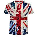 お買い得  iPhone 用ケース-男性用 プリント Tシャツ ストリートファッション / 軍隊 ラウンドネック カラーブロック / 3D レインボー / 半袖