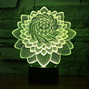 cheap Décor Lights-1pc USB 7 Colors LED Night Light Sleep Lighting 3D Lotus Flower Shape Table Lamp Touch Button Floral  Kids Gifts Bedroom Decor  <5 V