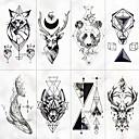 preiswerte Hülse Tätowierung-8 pcs Temporary Tattoos Wasserdicht / Beste Qualität Gesicht / Hände / Brachium Tattoo Aufkleber