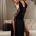 זול פרחי חתונה-בגדי ריקוד נשים חצאיות - אחיד מפוצל / שרוכים לכל האורך שחור XL XXL XXXL / סופר סקסי