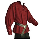 cheap Videogame Costumes-Knight Ritter Renaissance Ancient Rome Costume Men's Masquerade Brown / Green / Blue Vintage Cosplay Halloween Masquerade Long Sleeve Bishop Sleeve V Wire