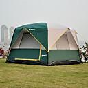 رخيصةأون مفارش و خيم و كانوبي-5 شخص خيمة التخييم العائلية في الهواء الطلق ضد الهواء مكتشف الأمطار يمكن ارتداؤها طبقات مزدوجة قطب الماسورة خيمة التخييم 1500-2000 mm إلى صيد السمك شاطئ Camping / Hiking / Caving ستانلس ستيل