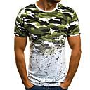 billiga Våtdräkter underställ och rashguards-Kamouflage T-shirt Herr Rund hals Grön XL