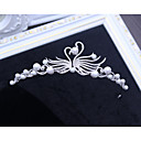 cheap Swatches-Alloy Tiaras with Faux Pearl 1 Piece Wedding / Birthday Headpiece