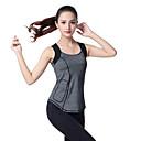 halpa Kuntoilu-, juoksu- ja joogavaatetus-Naisten Yoga Top Urheilu Yhtenäinen väri Topit Jooga Fitness Hihaton Activewear Kevyt Hengittävä Nopea kuivuminen Hikeä siirtävä Mikrojoustava