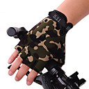 cheap Cycling Underwear & Base Layer-Bike Gloves / Cycling Gloves Breathable Anti-Slip Sweat-wicking Sun Protection Half Finger Sports Gloves Silicone Gel Mountain Bike MTB Black Camouflage for Adults' Fitness Gym Workout
