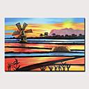 povoljno Slike krajolika-Hang oslikana uljanim bojama Ručno oslikana - Pejzaž Apstraktni pejsaži Moderna Uključi Unutarnji okvir / Prošireni platno