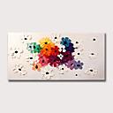 povoljno Apstraktno slikarstvo-Hang oslikana uljanim bojama Ručno oslikana - Sažetak Cvjetni / Botanički Klasik Moderna Bez unutrašnje Frame