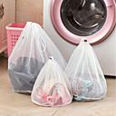 hesapli Banyo Gereçleri-giyim örgü çanta fermuarlı ince çizgiler İpli çamaşır torbası çamaşır torbaları için sutyen iç çamaşırı koruyucu çamaşır torbaları