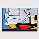 povoljno Slike sa životinjskim motivima-Hang oslikana uljanim bojama Ručno oslikana - Poznat Apstraktni pejsaži Moderna Uključi Unutarnji okvir / Prošireni platno