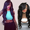 cheap Synthetic Lace Wigs-Synthetic Wig Deep Wave Style Middle Part Capless Wig Dark Brown Natural Black Synthetic Hair 28 inch Women's Women Dark Brown Wig Long Natural Wigs