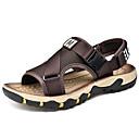 זול נעלי בית וכפכפים לגברים-בגדי ריקוד גברים נעלי נוחות סינטטיים קיץ יום יומי סנדלים הליכה נושם שחור / חום / חאקי