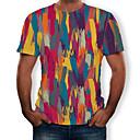 billige Brusehoveder-Rund hals Herre - Regnbue Trykt mønster T-shirt Regnbue XL
