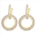 ราคาถูก ตุ้มหู-สำหรับผู้หญิง Cubic Zirconia Drop Earrings คลาสสิค โดนัท Stylish ต่างหู เครื่องประดับ สีทอง / ขาว / Rose Gold สำหรับ ของขวัญ ทุกวัน 1 คู่