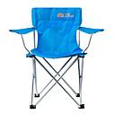 رخيصةأون مفروشات التخييم-كرسي تخييم قابل للطي في الهواء الطلق تشويه يتضمن حامل قماش اكسفورد إلى 1 شخص صيد السمك شاطئ تخييم أزرق 51*89*39/82 cm
