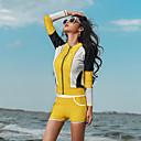povoljno Mokra odijela i majice za kupanje-Žene Rashguard kupaći kostim Kupaći kostimi Ugrijati Dugih rukava Prednji Zipper 3 dijela - Plivanje Kolaž Ljeto / Rastezljivo