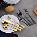 hesapli Çatal Bıçak Takımı-4 adet gökkuşağı yemek seti paslanmaz çelik çatal seti siyah bıçak çatal seti sofra altın gümüş cutleries batı yemek
