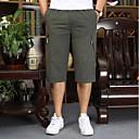 お買い得  メンズフーディー&スウェットシャツ-男性用 スポーティー プラスサイズ ショーツ パンツ - ソリッド スポーツ コットン ダックグレー カーキ色 ライトグレー XXXXL XXXXXL XXXXXXL