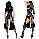 hesapli Seksi Kostümler-Kadın's Bayan Kadın Yetişkinler Yetişkin Punk Bağcıklı Elbiseler Pelerin Smoking Tek Renk Cadılar Bayramı İç Alt Giyim Kedikıyafeti / Spandex / Suni Deri