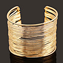 cheap Bracelets-Women's Classic Cuff Bracelet U Shape Classic Vintage Fashion Elegant Bracelet Jewelry Gold / Silver For Graduation Daily Carnival Club Festival