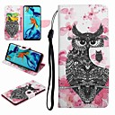 cheap Cellphone Case-Case For Huawei Huawei Mate 20 Lite / Honor 9 Card Holder / with Stand / Flip Full Body Cases Animal / Cartoon Hard PU Leather for Honor 9 / Honor 8 / Huawei Honor 7